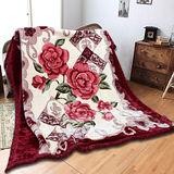 《KOSNEY 尊品花序 》頂級日本新合纖雙層舒眠毛毯180*230cm
