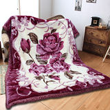 《KOSNEY 花月饗宴 》頂級日本新合纖雙層舒眠毛毯180*230cm