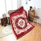 《KOSNEY 花鏡奢華 》頂級日本新合纖雙層舒眠毛毯180*230cm