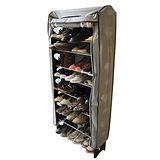 《購得樂》隨意組十層加大鞋架(含灰色布套)