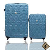 Miyoko 時尚花之紋系列28+20吋輕硬殼行李箱二件組