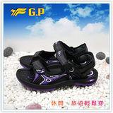 【G.P】新款親子同樂系列(36-39尺碼)-竹碳網布休閒兩用涼鞋G3631W-41(紫色)共三色