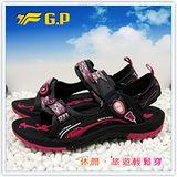 【G.P】新款織帶個性設計(35-38尺碼)-時尚休閒好穿兩用涼鞋G3639W-15 (黑桃色)共三色