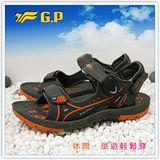【G.P】新款親子同樂系列(39-44尺碼)-時尚休閒好穿兩用涼鞋G3629M-42(橘色)共二色