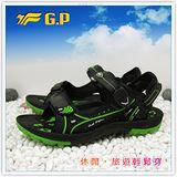 【G.P】新款親子同樂系列(39-44尺碼)-時尚休閒好穿兩用涼鞋G3629M-60(綠色)共二色