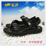 【G.P】新款排水透氣系列(37-43尺碼)-休閒旅遊好方便兩用涼鞋G3632-10(黑色)共二色