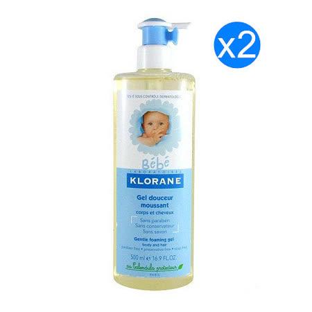 【KLORANE蔻蘿蘭】 寶寶洗髮沐浴精 500ml兩入組