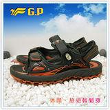 【G.P】新款排水透氣系列(37-43尺碼)-休閒旅遊好方便兩用涼鞋G3632-42(橘色)共二色