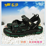 【G.P】新款排水透氣系列(37-43尺碼)-休閒旅遊好方便兩用涼鞋G3633-60(綠色)共二色