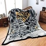 《KOSNEY-豹紋尊品》頂級日本新合纖雙層舒眠毛毯180*210cm