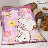 《KOSNEY-魅力淺紫》正牌授權SNOOPY超細纖維舒眠毛毯140*200cm