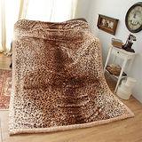 《KOSNEY-雲豹品味》日本新合纖雙層櫻花舒眠毛毯180*230cm