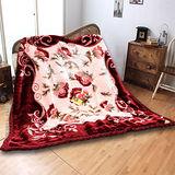 《KOSNEY-粉御品味》日本新合纖雙層櫻花舒眠毛毯180*230cm