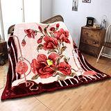 《KOSNEY-花品語葉》日本新合纖雙層櫻花舒眠毛毯180*230cm
