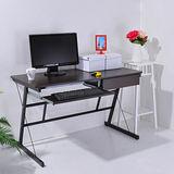 華特附電線孔蓋防潑水一抽一鍵工作桌/電腦桌(附調整腳墊)(2色)