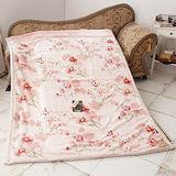 《KOSNEY-粉戀花香》頂級日本新合纖雙層單人舒眠毛毯150x200cm