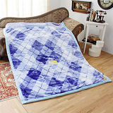 《KOSNEY-藍語色彩》日本新合纖雙層單人舒眠毛毯140x200cm