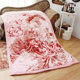 《KOSNEY-粉花魅力》日本新合纖雙層單人舒眠毛毯140x200cm