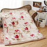 《KOSNEY-時尚花語》日本新合纖雙層單人舒眠毛毯140x200cm