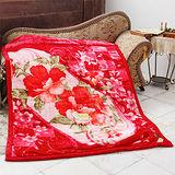 《KOSNEY-花語世界》日本新合纖雙層單人舒眠毛毯140x200cm