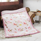 《KOSNEY-花香魅力》日本新合纖雙層單人舒眠毛毯140x200cm