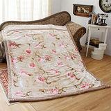 《KOSNEY-古典花語》日本新合纖雙層單人舒眠毛毯140x200cm