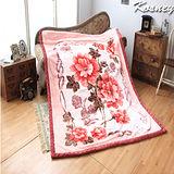 《KOSNEY-香水漫舞》頂級日本新合纖雙層舒眠毛毯180*230cm