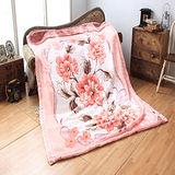 《KOSNEY-粉紅戀曲》頂級日本新合纖雙層舒眠毛毯180*230cm