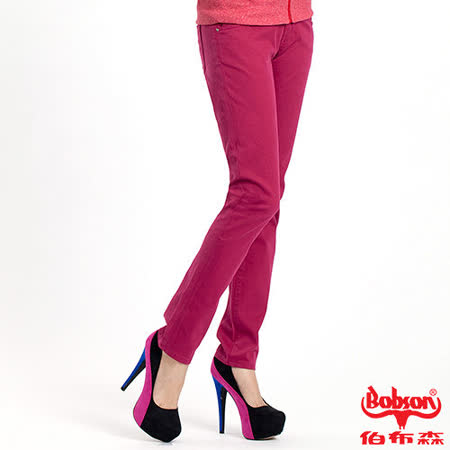 【BOBSON】女款多彩色彈性小直筒褲(8067-15)