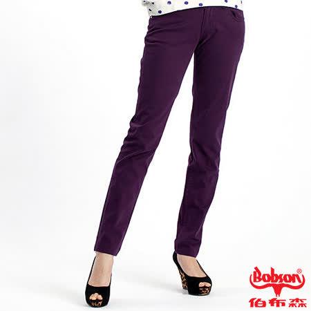 【BOBSON】女款多彩色彈性小直筒褲(8067-61)