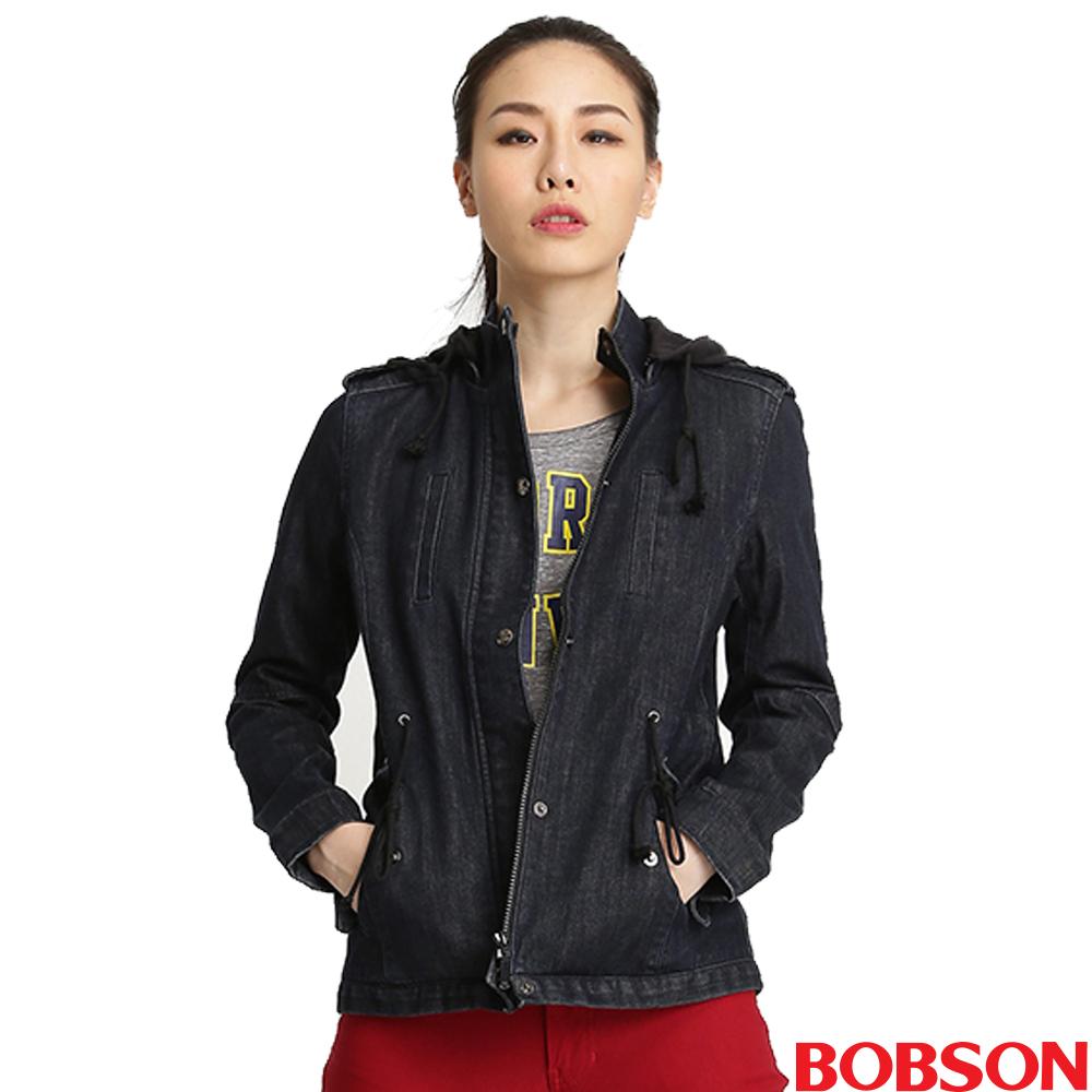 BOBSON 女款熱感IN牛仔外套^(32116~52^)