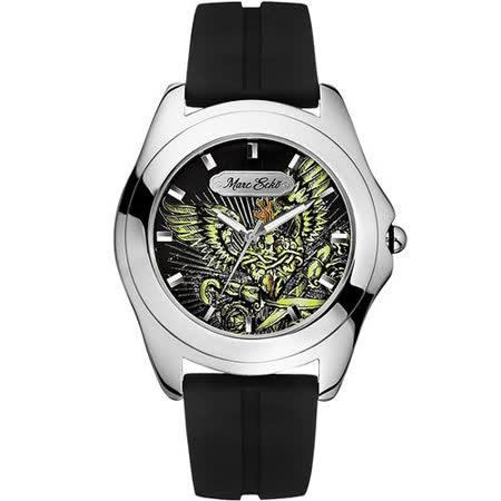MARC ECKO MARS戰神彩繪刺青風格腕錶-黑 ME07502G1