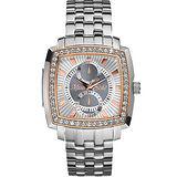 MARC ECKO 太陽神傳說晶鑽腕錶-銀 ME15066G1