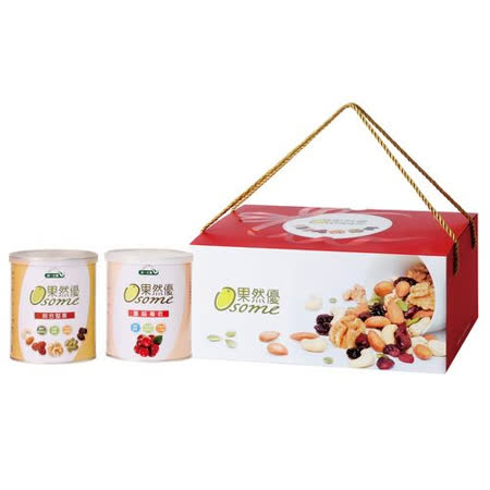 [統一生機]果然優堅蔓禮盒(綜合堅果360g+蔓越莓乾360g)