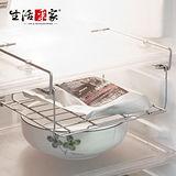 【生活采家】台灣製#304不鏽鋼廚房冰箱掛架#27148