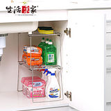 【生活采家】台灣製#304不鏽鋼廚房堆疊ㄇ型架(2入裝)#99255