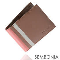 SEMBONIA 完美跳躍九卡上翻式短夾(褐色)SM179-502-85