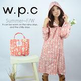 【w.p.c.】甜美花朵款。時尚雨衣/風衣(R1026)_(粉色)