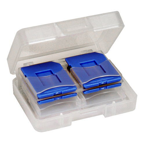 DigiStone SDSDHC MircoSD 炫彩記憶卡收納盒  8片裝 - 藍色