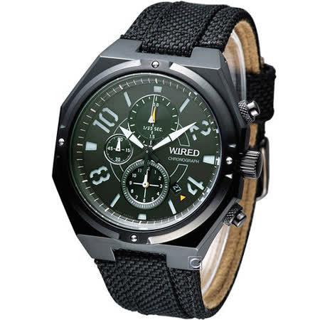 雅柏 WIRED 日系潮流三眼計時腕錶 7T92-X254G AF8R83X1