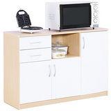 【奧克蘭】白橡木色三門二抽五格廚房櫃