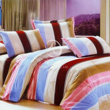 【流光溢彩】雙人全舖棉四件式兩用被床包組