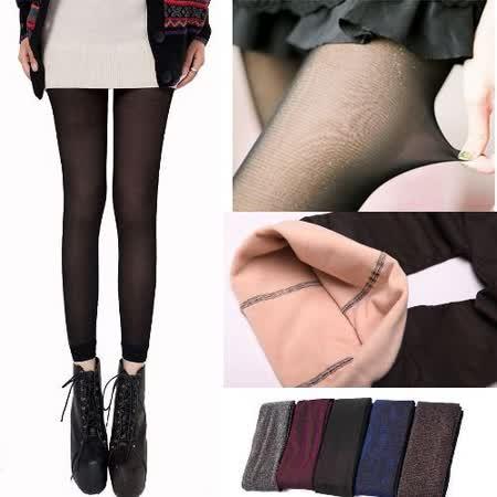 Kate❤Classic 冬天必備假透膚絲襪保暖九分內搭褲(內裡磨毛)(LB00009)