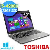 Toshiba Z30 13.3吋 i5-4200U 128G SSD 超極致輕筆電-金(Z30-009004)【贈原廠筆電包+原廠光學滑鼠】