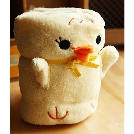 黃色小鴨可愛造型毯/嬰兒蓋毯/午睡毯/冷氣毯 約110*85cm