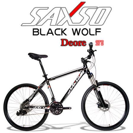 ►全新車款SAXSO BLACK DISC WOLF 27速DEORE精品碟煞登山車