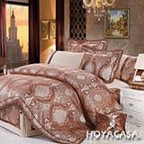 《HOYACASA 歐貝爾》加大八件式木漿纖維緹花兩用被床罩組