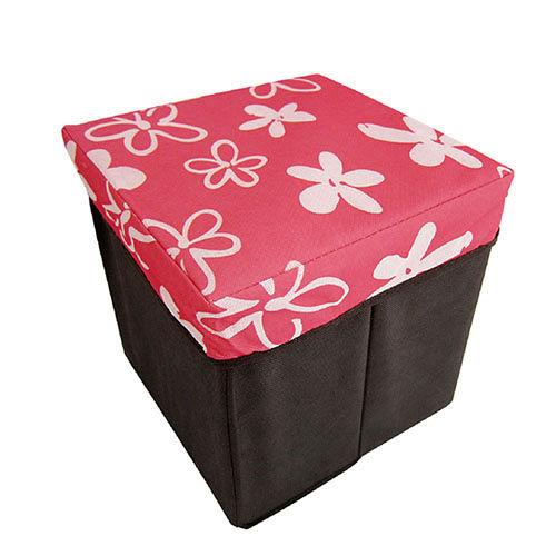 多 粉紅小花收納椅 D~1278~2