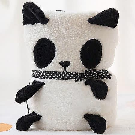 圓仔貓熊可愛造型毯/嬰兒蓋毯/午睡毯/冷氣毯 約110*85cm