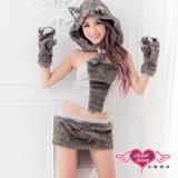 【天使霓裳】可愛俏皮小狐狸 灰色動物角色服(7件組)